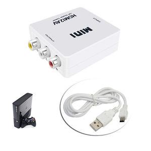 1080P Converter/Connector Cable HDMI to AV/Composite CVBS S-Video/RCA/NTSC/PAL