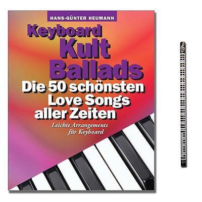 Keyboard Kult Ballads - Songbook mit PianoBleistift - BOE7608 - 9783865437044