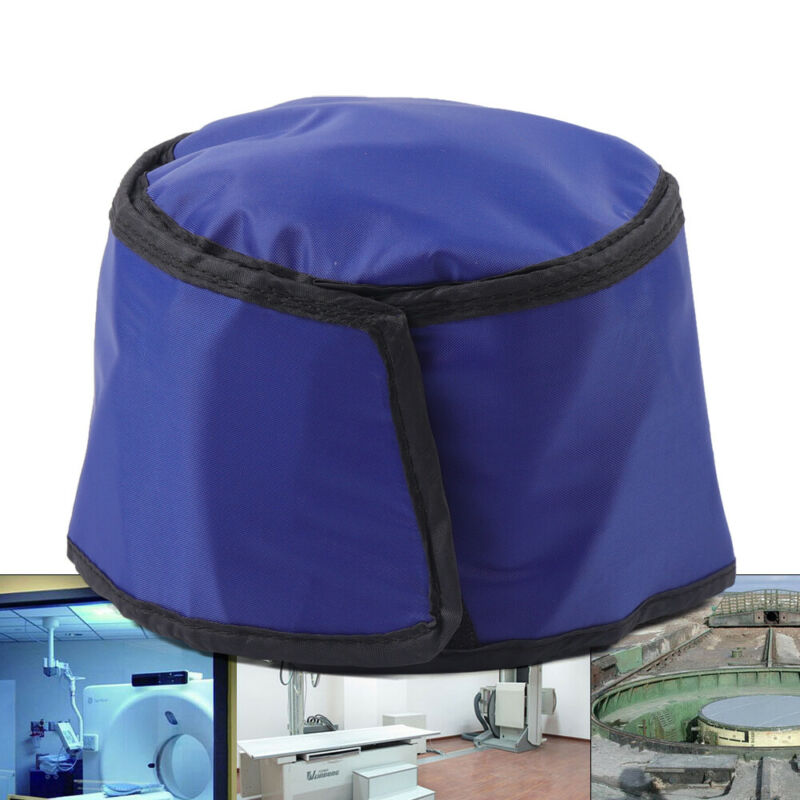 Blue Lead Cap Head Shield for X-ray Inspection Radiation Protective Cap