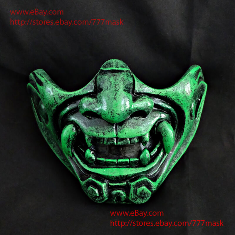 Samurai Mask Ronin Mempo Kabuto Japanese Noh Airsoft Paintball Half Face MA216