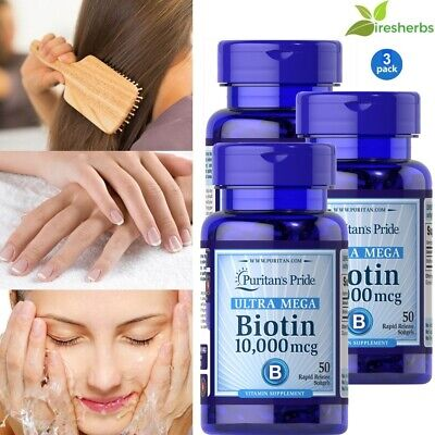 #1 BEST BIOTIN 10,000mcg HEALTHY HAIR SKIN NAILS GROWTH SUPPLEMENT 150