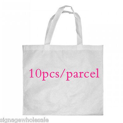 10pcs 38 X 40cm Blank Dye Sublimation Shopping Bag Large For Heat Press Machine