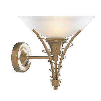 Searchlight Linea Modern Brass Acid Glass Indoor Wall Fitting Bracket Light New