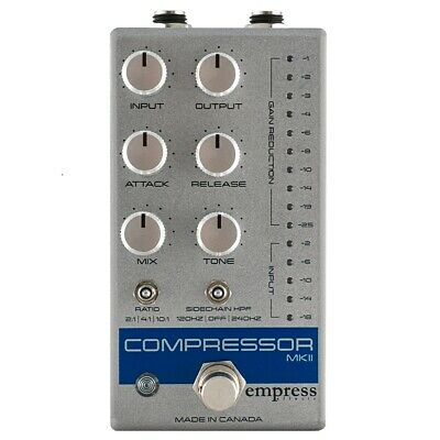 Empress MkII Compressor Pedal, All Analog, Silver