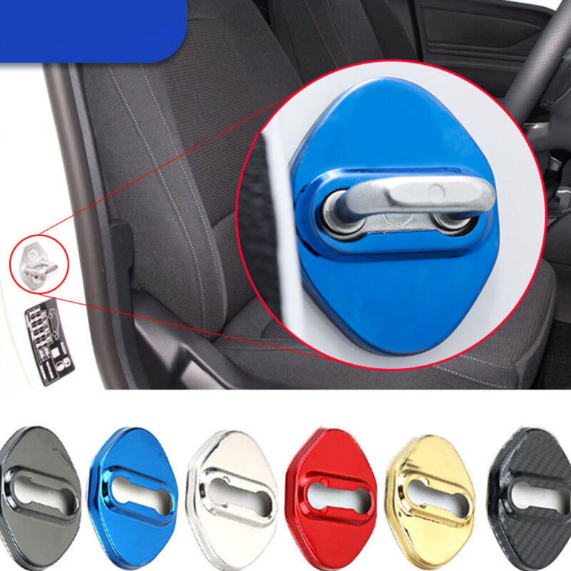 1 Set Stainless Steel Car Door Lock Cover Protector Buckle for Ford Explorers