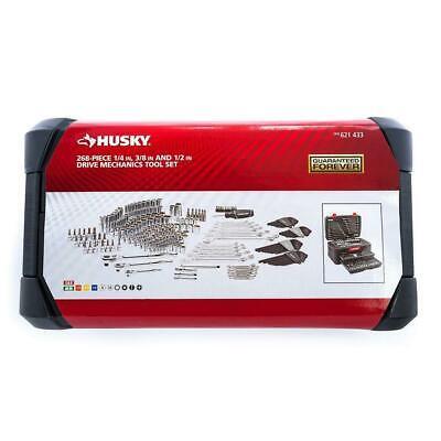 268-Piece Husky Mechanics Tool Set w Case SAE Metric Sockets Wrenches Repair Kit