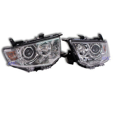 Head Lamp Light Projector Pair For 2009 10-2014 Mitsubishi Pajero Sport L200 SUV