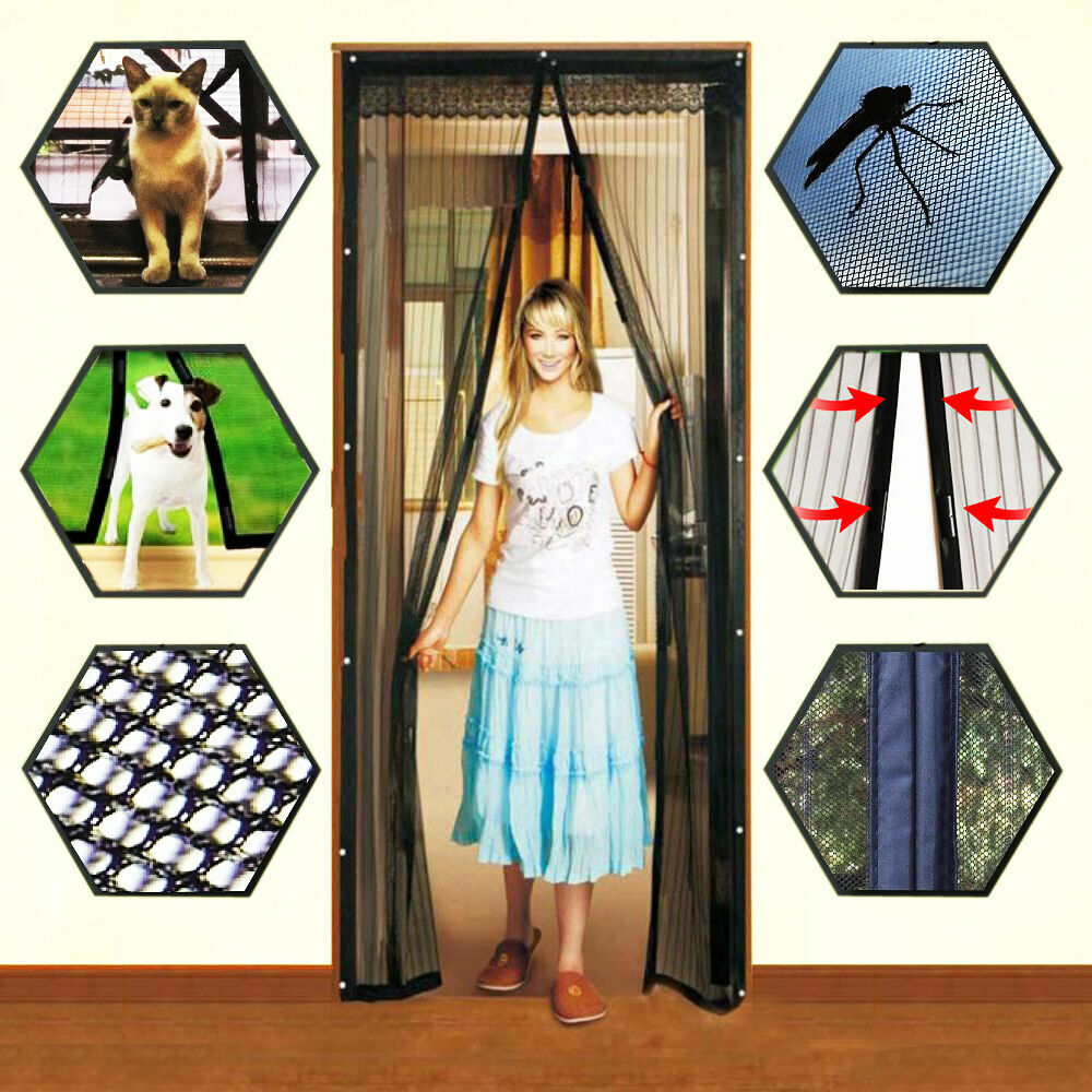 Hands-Free Magnetic Screen Door Mesh Net BLOCK Mosquito Fly Insect Bug Curtain 1