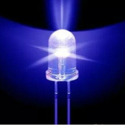 50pcs F5 5mm Round Ultra Violet Led Uv Light 390-395nm Purple Lamp Diode