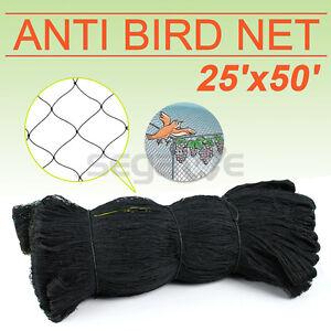50' x 25' Poultry Netting Quail Net Chicken Nets Multi-nylon Game Bird 2