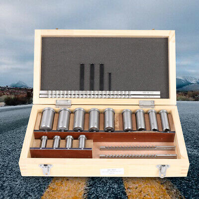 22pc Keyway Broach Kit Collared Bushing Shim Set Metric Size 4mm 5mm 6mm 8mm