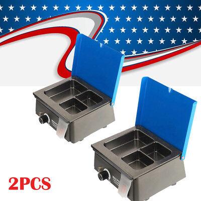 2set Dental 3well Analog Wax Melting Dipping Pot Heater Melter Lab Equipment Ce