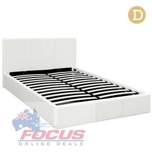 Deluxe Gas Lift PU Leather Storage Bed Frame Double Melbourne CBD Melbourne City Preview