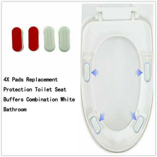 4X Pads Replacement Protection Toilet Seat Buffers Combinati