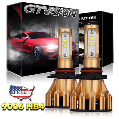 2x 9006 Cree LED Headlight Bulb 6000K High Power 1900W for Ford Expedition 03-06