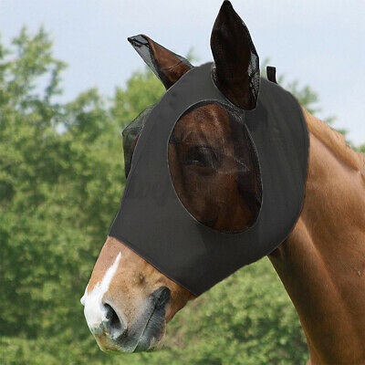 Einstellbar Pferd Fliegenmaske Fliegenschutzmaske Ohrenschutz Pferdemaske O