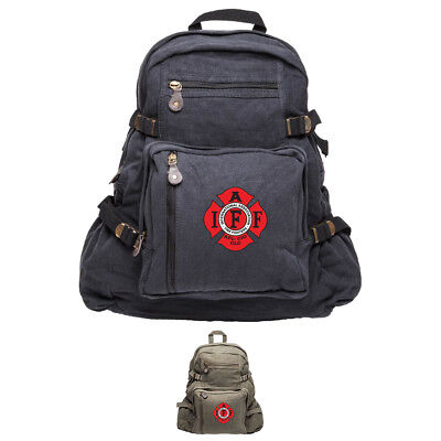 IAFF International Association of Fire Fighters Army Canvas Backpack - Firefighter Backpack