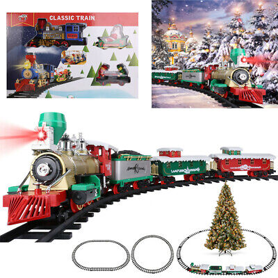 Battery Operated Large Christmas Train Track Set With Sound Light Children Gift