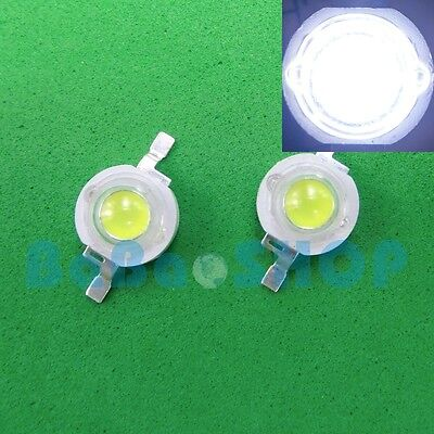 10pcs 3W Cool White 10000K High Power LED 180Lm-200Lm Light Lamp Beads Aquarium on Rummage