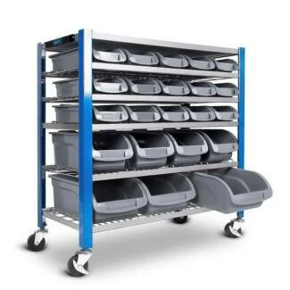 FREE DELIVERY - 22 Storage Bin Rack With Magnetic Tool Bar