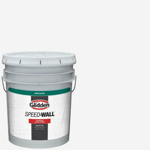 LATEX PAINT 5 gallon Speed Wall White Semi Gloss Interior Dining Room Bedroom