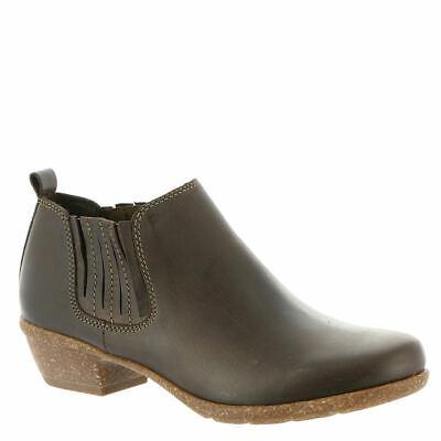 Clarks Woman Wilrose Jade Nubuck Brown Chelsea Boot Standard Fit Size 7 D