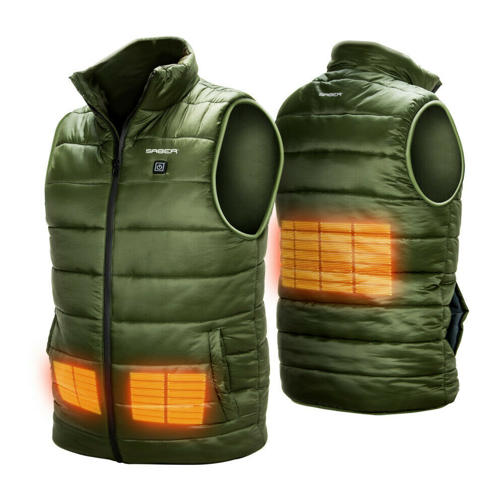 Saber Mens Heated Gilet USB Electric Battery Body Warmer Fis