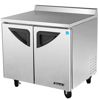 Turbo Air Twr-36sd-n6 Super Deluxe 36 Double Door Worktop Refrigerator