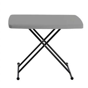 NEW Iceberg 65491 Indestructible Too 1200 Series Resin Personal Folding Table 30 x 20 Charcoal Condtion: New