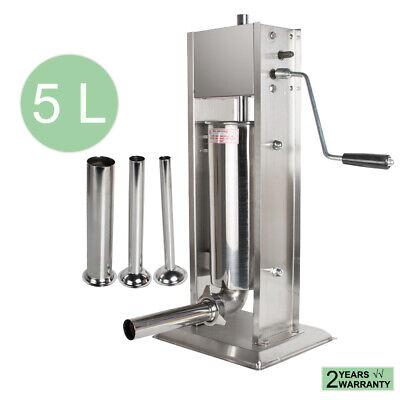 5l11lbs Commercial Steel Meat Sausage Filler Stuffer Maker Vertical Machine