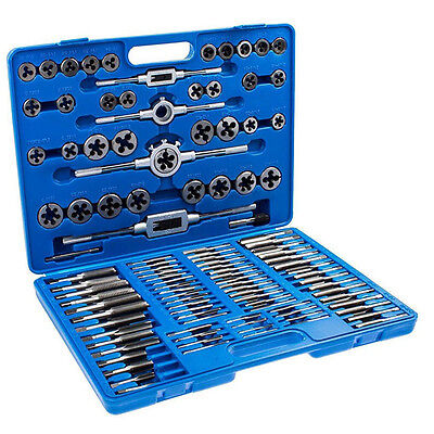 110x Tap And Die Set Wcases Metric Screw Extractor Threat Kit Remover Tool