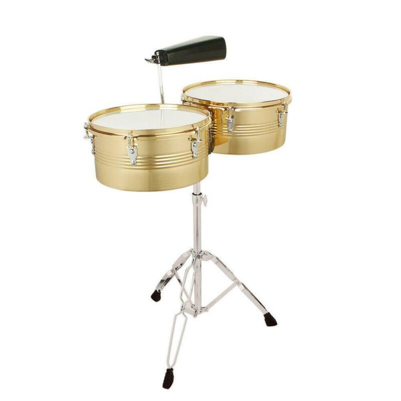 "New Percussion 13"" & 14"" Timbales Drum Musician Set"