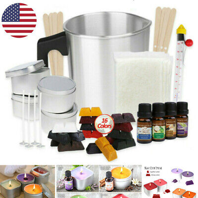 Candle Making Kit Beginner Wax DIY Tool Set Home Handmade 16 Color Dyes Kit Gift