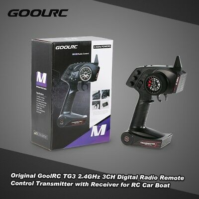 GoolRC TG3 2.4GHz 3CH Digital Radio RC Transmitter w/ Receiver for RC Car I5V4