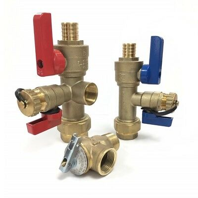Pex 34 Tankless Water Heater Valve Kit Natural Gas Propane Electric