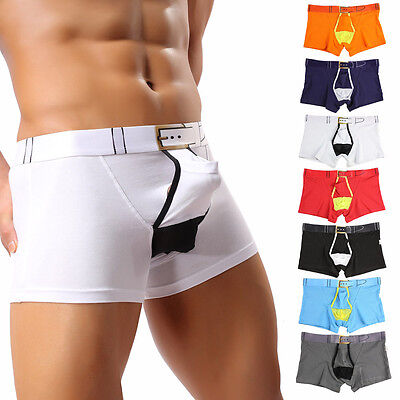 Mens Breathe Gun Egg Separation Underwear Briefs Pouch Shorts Solid Underpants