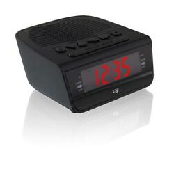 GPX AM/FM Clock Radio with 0.6in Red LED Display