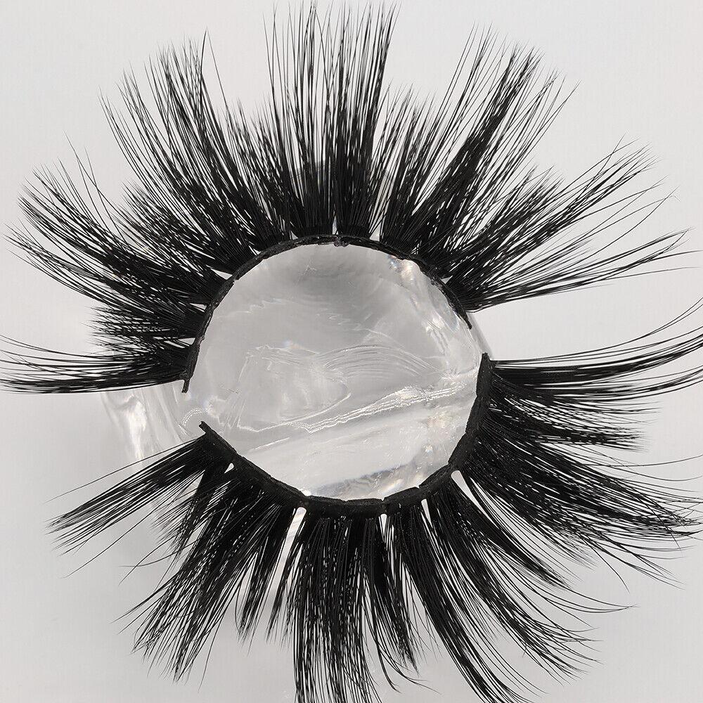Wispy Cross False Eyelashes 5D Soft Mink Hair 25mm Lashes Ey