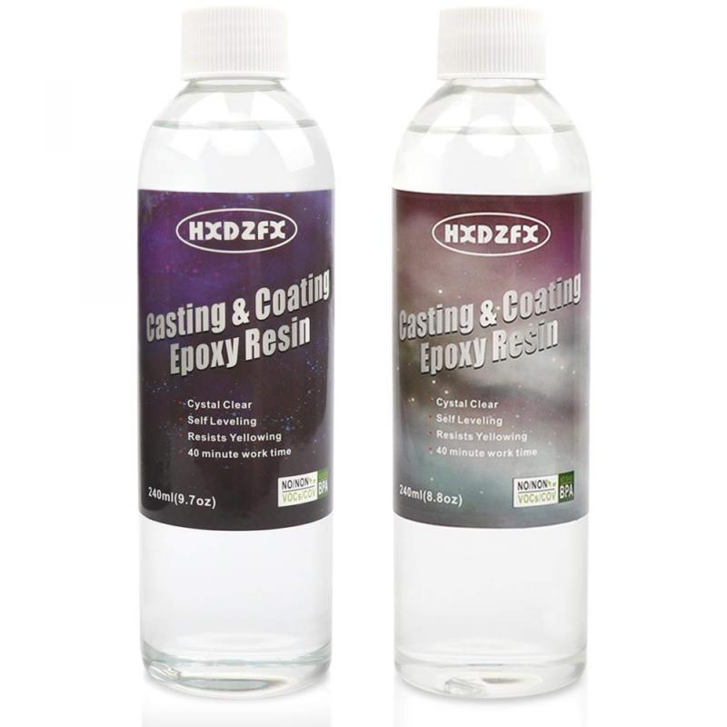 Epoxy Resin Coating 18.5oz Kit Silicone Molds Making Kit Cry
