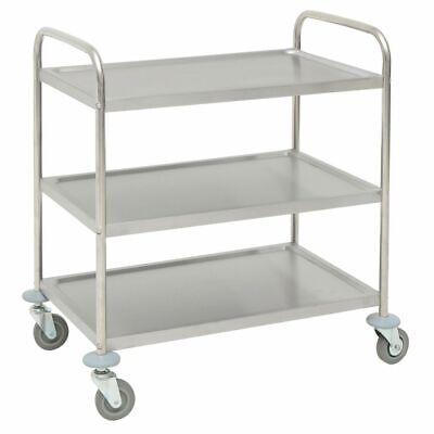 Hubert Trolley Cart Stainless Steel 3-shelf