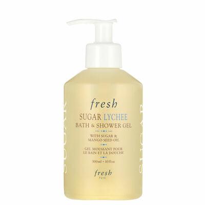 Fresh Sugar Lychee Bath & Shower Gel Pump with Mango Seed Oil 10oz (300ml)