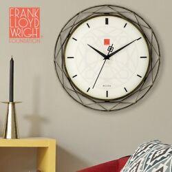 Bulova Frank Lloyd Wright Luxfer Prism Wall Clock, 14, Bronze