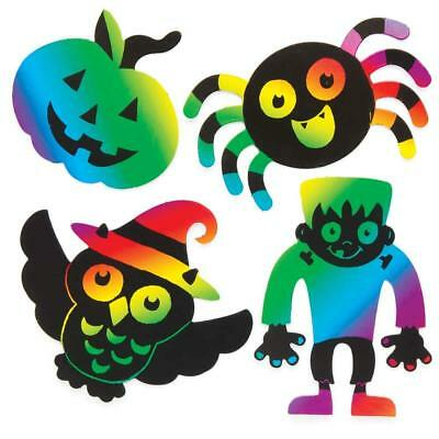 SALE! 5 Random HALLOWEEN Scratch Art Fridge Magnets for Kids CRAFT Design