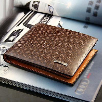 Fashion Men's PU Leather Wallet Pocket Card Clutch ID Credit Bifold Purse