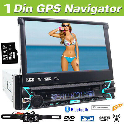 "Usado, Single 1DIN Flip-Out 7"" Car Stereo DVD CD Player GPS/USB/Bluetooth Radio Camera segunda mano  Embacar hacia Mexico"