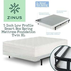 NEW Zinus 5 Inch Low Profile Smart Box Spring / Mattress Foundation Twin XL Condition: New