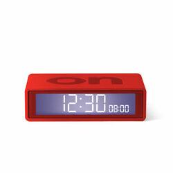 Lexon - Flip + Travel Clock Red - LR151
