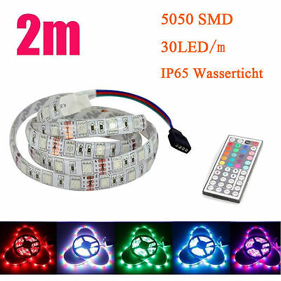 2m rgb 5050 smd led selbstklebend wasserdicht streifen. Black Bedroom Furniture Sets. Home Design Ideas