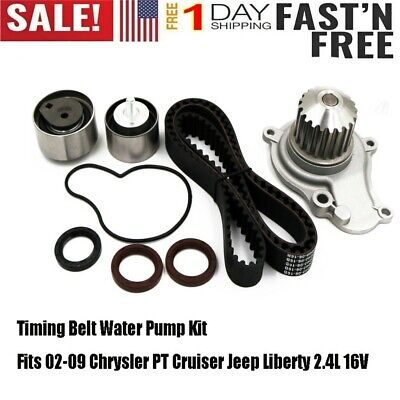 Timing Belt Water Pump Kits Fits 02-09 Chrysler PT Cruiser Jeep Liberty 2.4L 16V