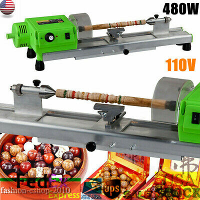 110v Ac Mini Lathe Machine Diy Wood Lathe Mini Bench Drill For Plastic Wood 480w